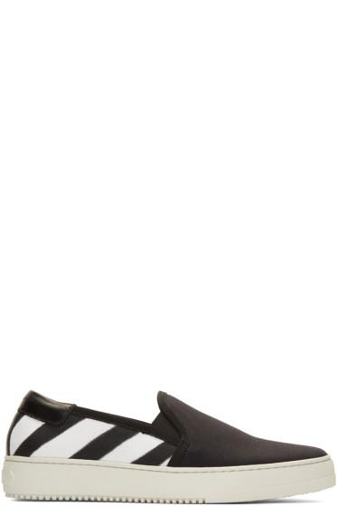 Off-White - Black Spray Slip-On Sneakers