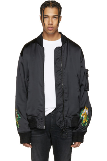 Off-White - Black Souvenir Bomber Jacket