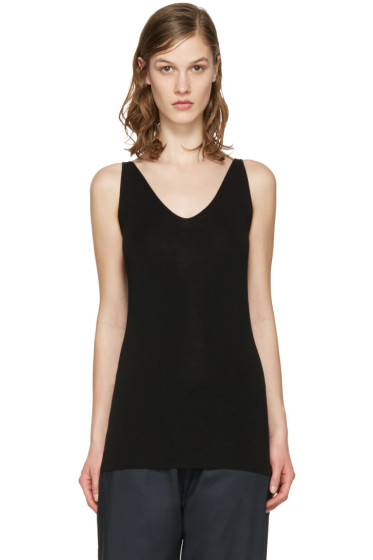Studio Nicholson - Black Merino Full Needle Tank Top