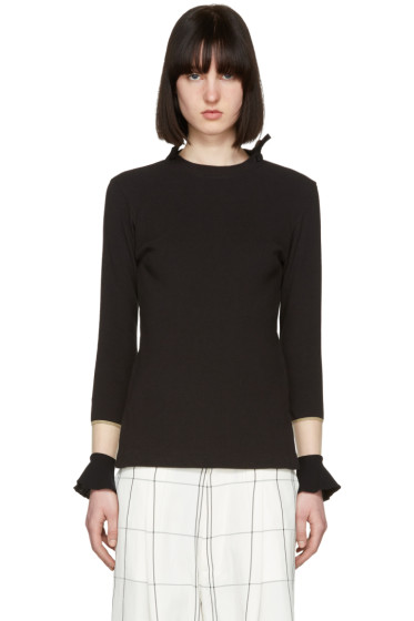 Toga - Black Flare Sleeves Pullover