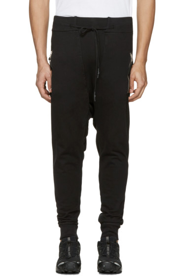 11 by Boris Bidjan Saberi - Black Drawstring Lounge Pants