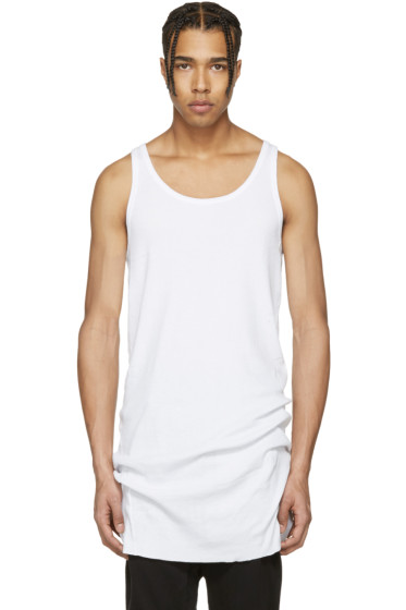 11 by Boris Bidjan Saberi - White Slim Block Tank Top