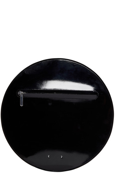 PB 0110 - Black Patent Leather AB 44 Circle Pouch