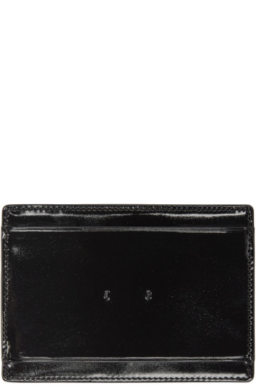 PB 0110 - Black Patent Leather CM 9 Card Holder