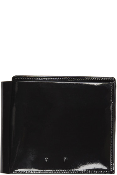 PB 0110 - Black Patent Leather CM 18 Wallet