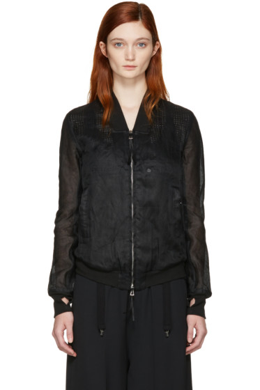 Boris Bidjan Saberi - Black Cotton Bomber Jacket