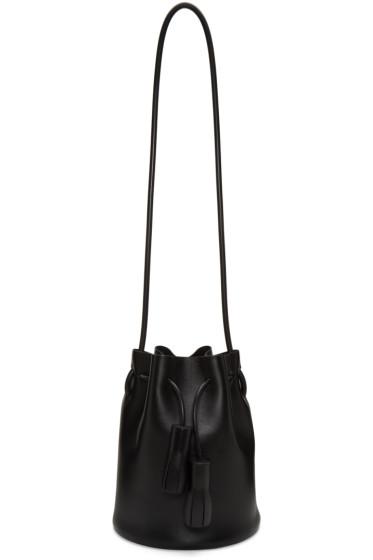 Building Block - Black Mini Bucket Bag