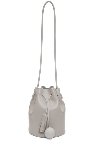 Building Block - Grey Mini Bucket Bag