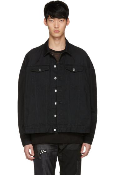 Diet Butcher Slim Skin - Black Oversized Denim Jacket