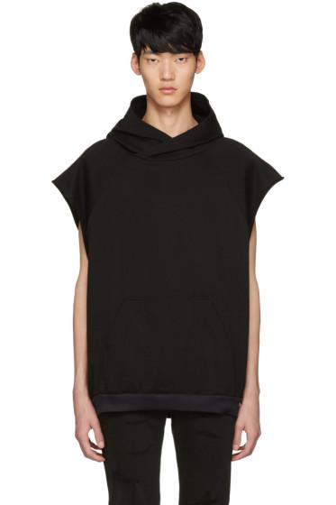 Diet Butcher Slim Skin - Black Oversized Sleeveless Hoodie