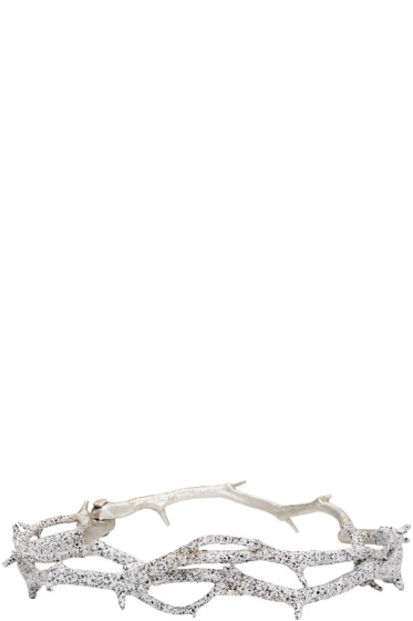 Pearls Before Swine - Silver Thorn Bangle