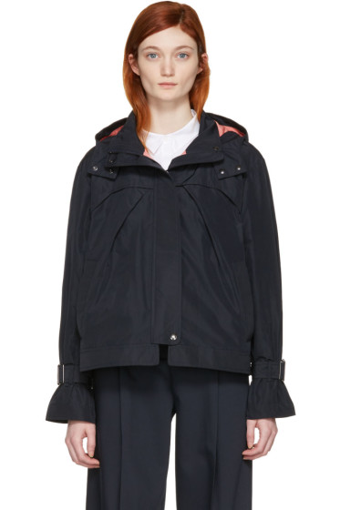 Jil Sander Navy - Navy Hooded Jacket