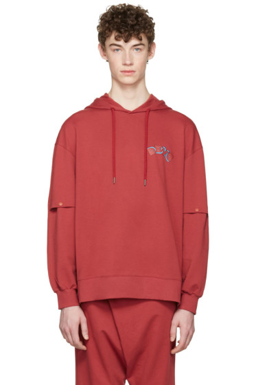 D by D - Red Vented Sleeves Hoodie