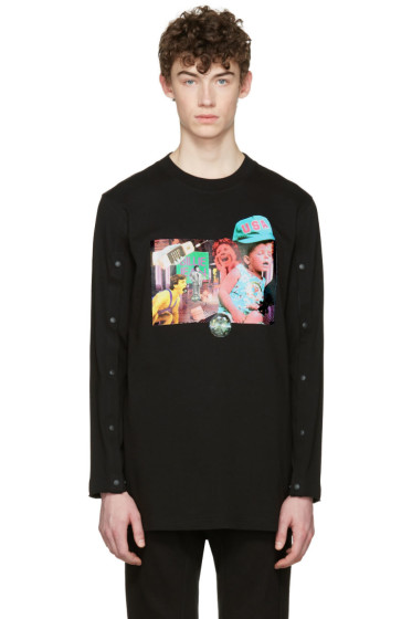 D by D - Black Open Long Sleeve T-Shirt