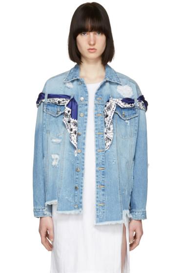 SJYP - Blue Denim Oversized Jacket