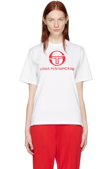 Gosha Rubchinskiy - ホワイト Sergio Tacchini Edition T シャツ