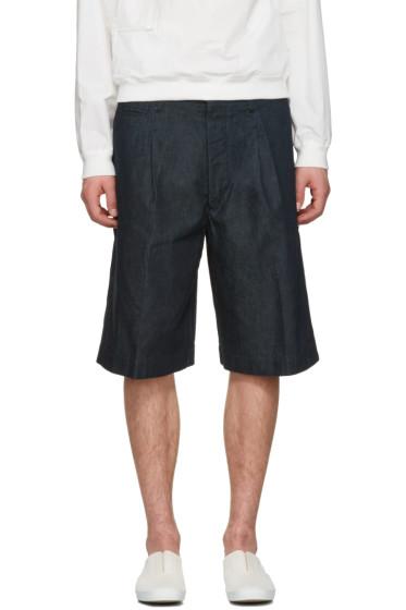 Lemaire - Indigo Denim Shorts
