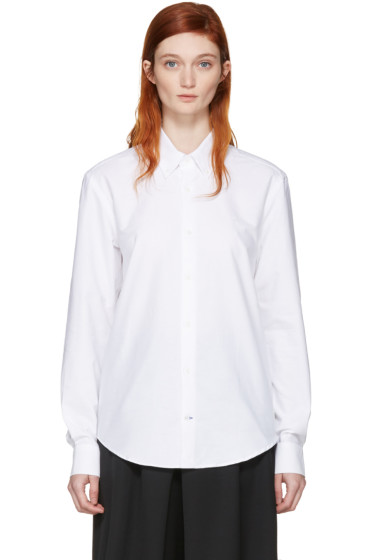 Etudes - ホワイト インフォ シャツ