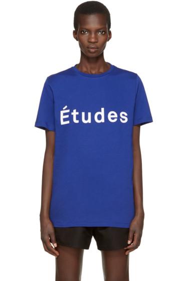 Etudes - Blue Page Logo T-Shirt