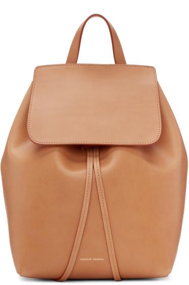 Mansur Gavriel - Tan Leather Mini Backpack