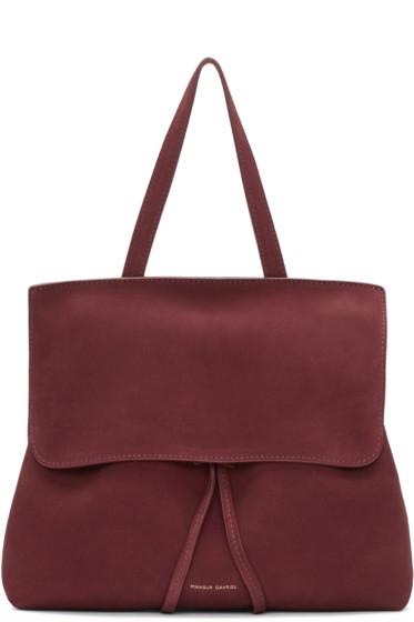 Mansur Gavriel - Burgundy Suede Mini Lady Bag