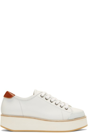 Flamingos - White Tatum Sneakers