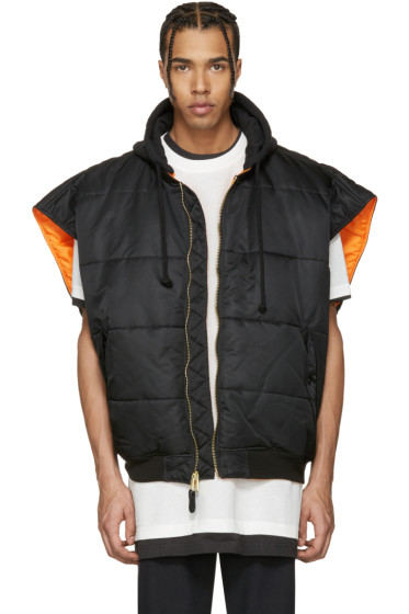 Vetements - Reversible Black Alpha Industries Edition Oversized Sleeveless Bomber