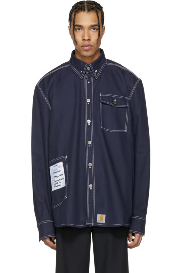 Vetements - Navy Carhartt Edition Workwear Shirt