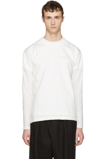 Vetements - White Hanes Edition Fitted Double 'Securite' T-Shirt