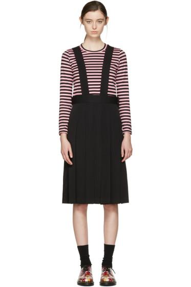 Comme des Garçons Girl - ブラック ウール サスペンダー ドレス