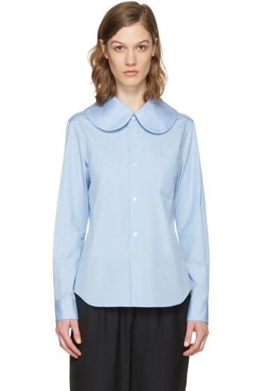 Comme des Garçons Girl - Blue Oversized Collar Shirt