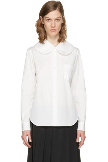 Comme des Garçons Girl - White Oversized Collar Shirt