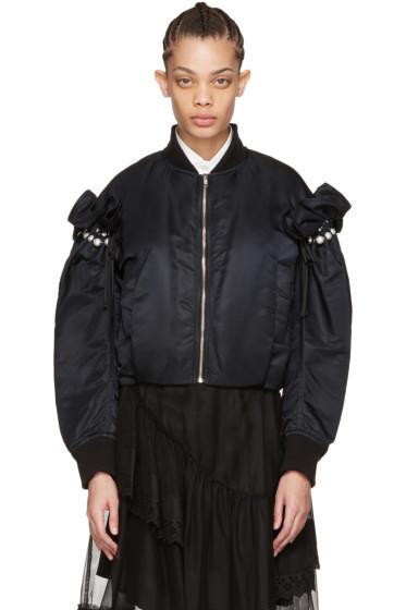 Noir Kei Ninomiya - ブラック パール ボンバー ジャケット