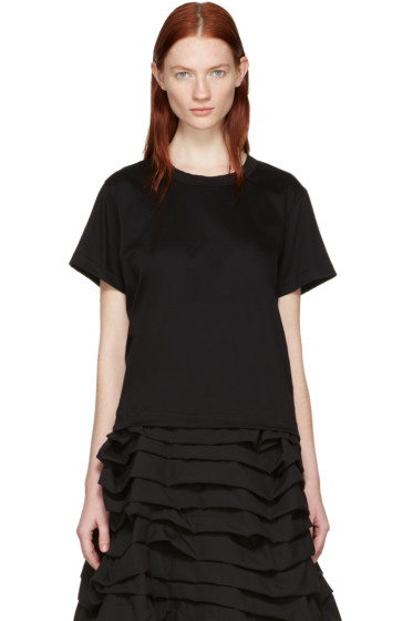 Noir Kei Ninomiya - Black Grosgrain Tape T-Shirt