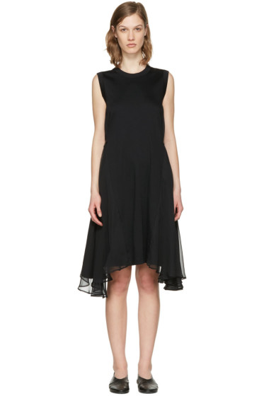 Noir Kei Ninomiya - Black Chiffon Wings Dress