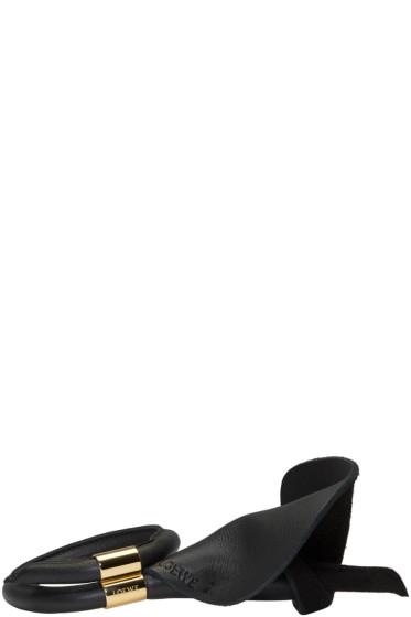 Loewe - ブラック カラ フラワー ブレスレット
