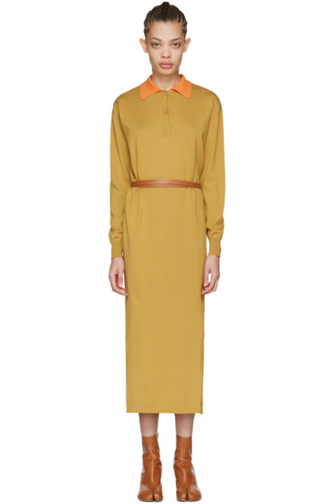 Loewe - Tan Knit Polo Dress