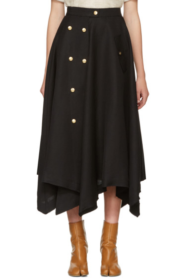 Loewe - Black Gold Button Skirt