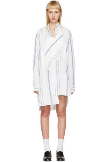 Loewe - Off-White Asymmetric Striped Shirt