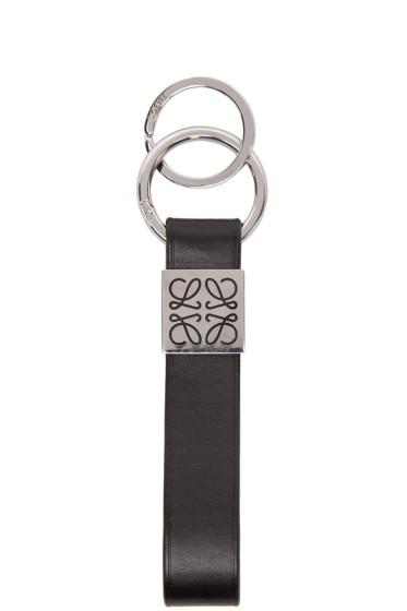 Loewe - Black Leather Tag Keychain