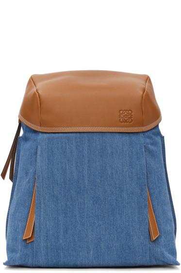 Loewe - Blue Denim Small T Backpack
