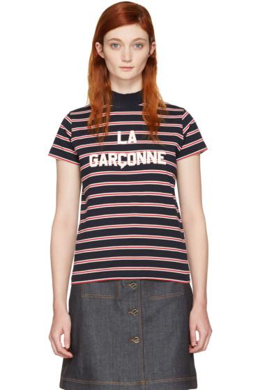 Harmony - ネイビー ストライプ La Garçonne T シャツ