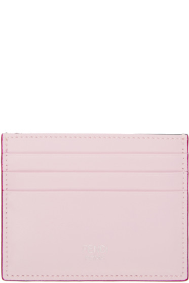 Fendi - Pink & Green Card Holder