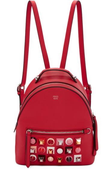 Fendi - Red Mini Studded Backpack