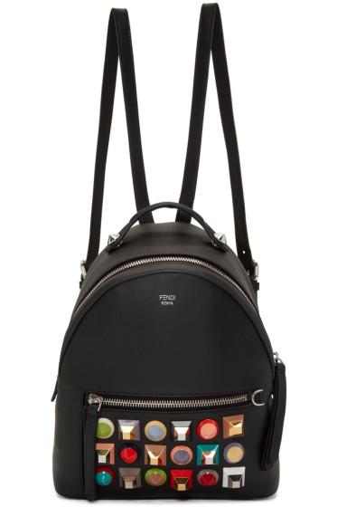 Fendi - Black Mini Rainbow Backpack