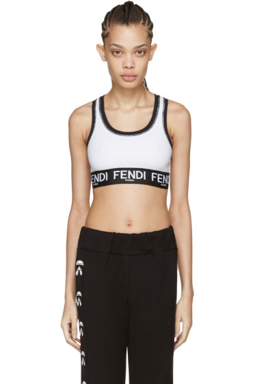 Fendi - White Logo Sports Bra