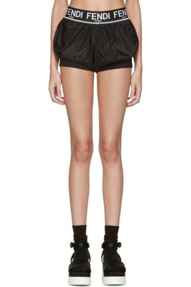 Fendi - Black Logo Shorts