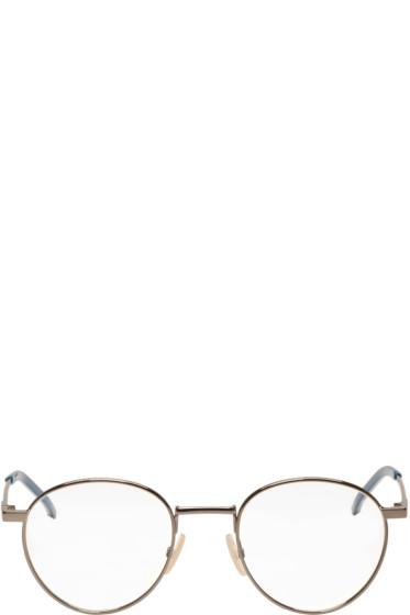Fendi - Gunmetal Thin Round Glasses