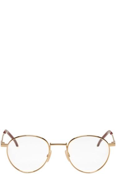 Fendi - Gold Thin Round Glasses