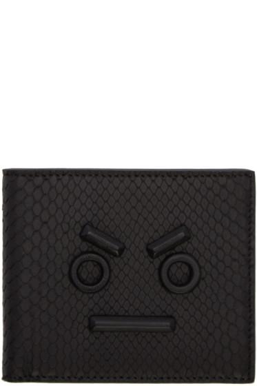 Fendi - Black Python 'Fendi Faces' Wallet